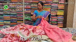 Low cost Lenin and silk mix,#episode 688 Divya collections
