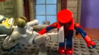 The amazing spiderman vs the rhino minimates stop motion mo