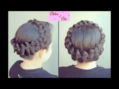 Peinado: Corona en Trenza Holandesa - Hairstyle: Dutch Braided Crown | Chikas Ch