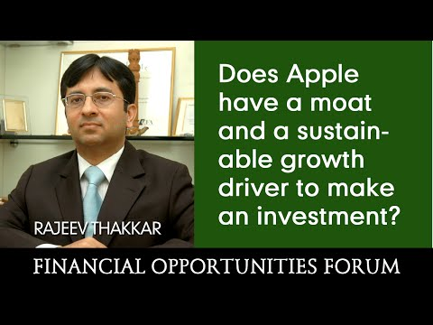 Does Apple have a moat and a sustainable growth driver to make an investment?
