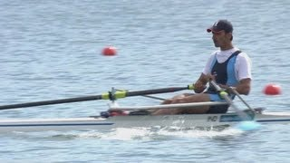 Men's Single Sculls Rowing Repechage 1 Replay -- London 2012 Olympics