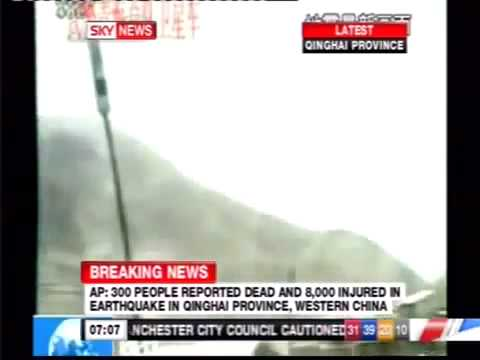 BREAKING  6.9 Magnitude Earthquake Qinghai Province, China (Yushu)   At Least 300+ Killed
