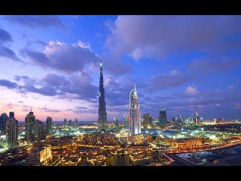 DUBAI AT NIGHT-Dubai Mall, Burj Khalifa, Downtown, Skyscrapers