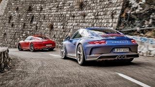 TopGear : Porsche 911 Carrera T vs GT3 Touring