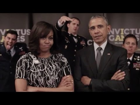 The Obamas And Prince Harry Fake-Feud Over Invictus Games
