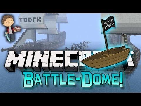 Minecraft: BATTLE-DOME w/Mitch & Friends Part 1 - BOAT WARS!