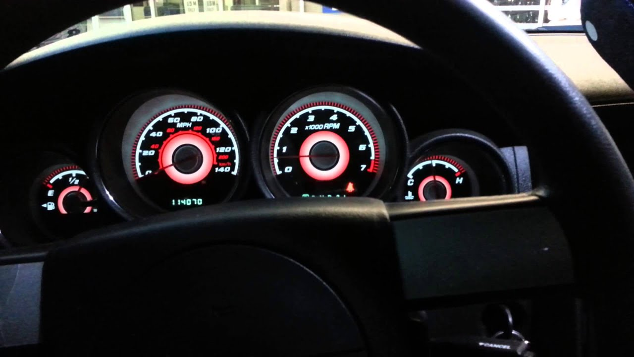 2008 Dodge Charger Red Amp White Gauge Face And Led Youtube