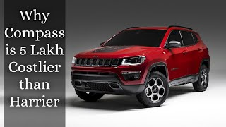 Why Jeep Compass is 5 Lakh Costlier than Tata Harrier 🚙💰...
