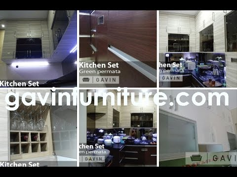 Model kitchen set gambar oleh gavin furniture youtube for Gambar kitchen set