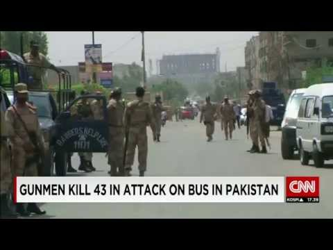 Jundallah Gunmen Kill FORTY-THREE+ In Attack On Bus In Karachi, Pakistan