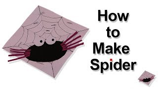 DIY How To Make Paper Moving Spider Craft, Very easy For Kids ,magic art and craft
