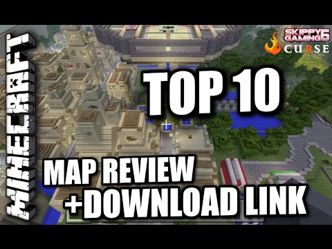 MINECRAFT - PS3 - TOP TEN MAP REVIEWS + DOWNLOAD LINKS ( PS4 ) TU18 SERVER UPDATE
