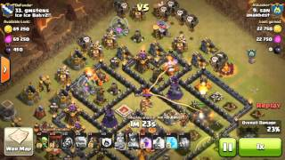 Watch and Learn! TH 10 3 stars clash of clans (San)