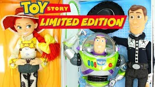 Limited Edition TOY STORY Disney Dolls | TALKING Woody, Buzz Lightyear, & Jessie | AMAZING DETAILS!