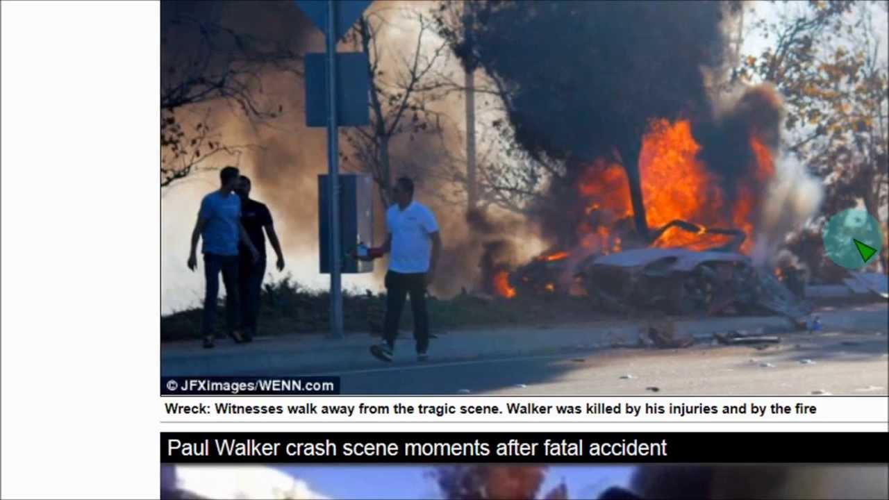 Walker crash of pictures car paul