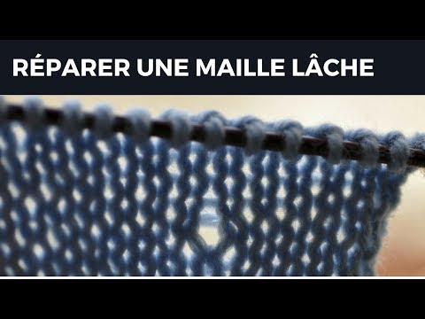 r parer une maille l che youtube. Black Bedroom Furniture Sets. Home Design Ideas