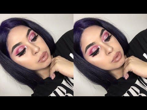 Pink Glitter Makeup Tutorial   Jocelyn Sanchez