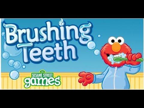 Elmo Toddler  Brushing Teeth