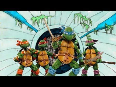 El Intro de las Tortugas Ninja hecho con stop motion