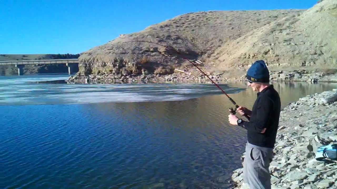 Alex catching fish at starvation reservoir march 19 2013 for Utah ice fishing report