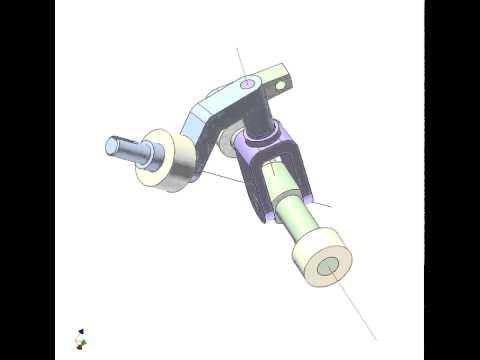 Spherical 4-bar linkage mechanism 5