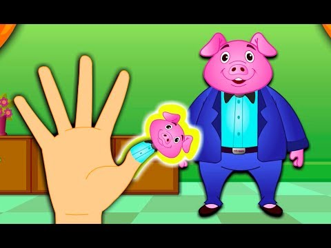 The Finger Family Pig Family Nursery Rhyme | Kids Animation...