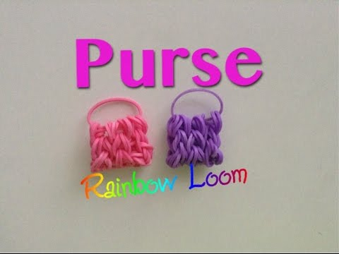 EASY Rainbow Loom Purse Charms
