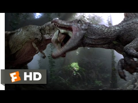 Jurassic Park 3 (3/10) Movie CLIP - Spinosaurus vs. T-Rex (2001) HD