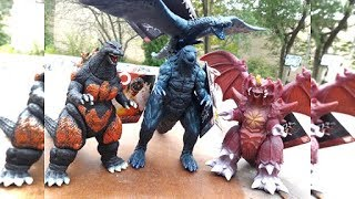 4 NEW BANDAI GODZILLA TOYS to Unbox!!!