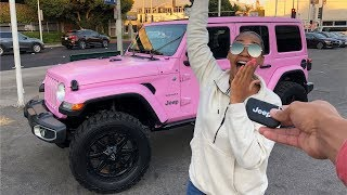 SURPRISING HER WITH A BRAND NEW JEEP WRANGLER! *PRICELESS REACTION*