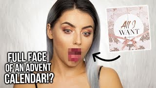 FULL (ISH) FACE USING AN ADVENT CALENDAR!? GLOSSYBOX ALL I WANT REVIEW ad