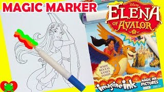 Disney Princess Elena of Avalor Imagine Ink Magic Marker Coloring Book and Surprises