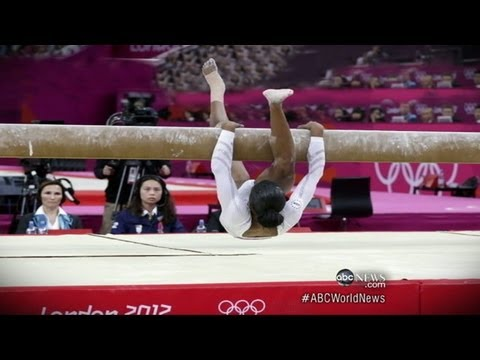 London 2012 Gymnastics: Gabby Douglas Slips on Beam