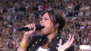 Jennifer Hudson Video - Jennifer Hudson - The Star Spangled Banner, Super Bowl XLIII 2009, subtitles lyrics HD 720p