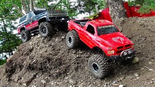 RC ADVENTURES - BACKYARD SCALE TRACK 4x4 ACTiON! DODGE & CHEVY