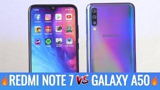 Samsung Galaxy A50 vs Xiaomi Redmi Note 7 Speed Test - Lo mejor de 2019 en la gama media🔥