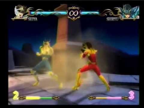Saint Seiya Hades PS2 Gold Seiya vs Gold Shiryu