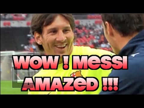 WOWWW! Lionel Messi is Amazed by crazy skills!!! Unbelievable!