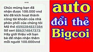 Hướng Dẫn Auto Đổi Thẻ Cào BigCoi Mỗi Ngày | Kiếm Tiền Online Trên Điện Thoại