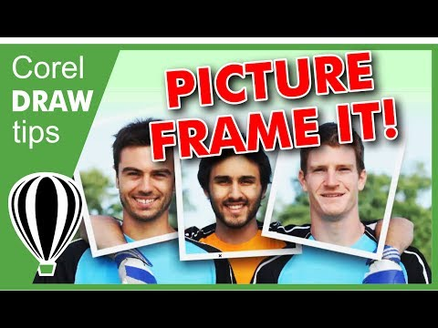 Picture frame it in CorelDraw