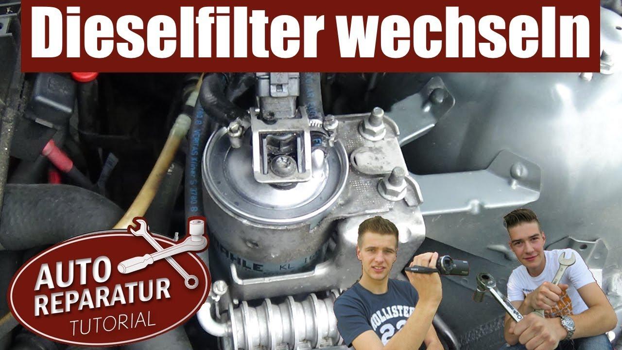kraftstofffilter dieselfilter wechseln erneuern tutorial