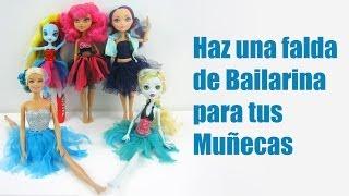 Manualidades para muñecas: Haz un tutu o falda de bailarina para tu muñeca