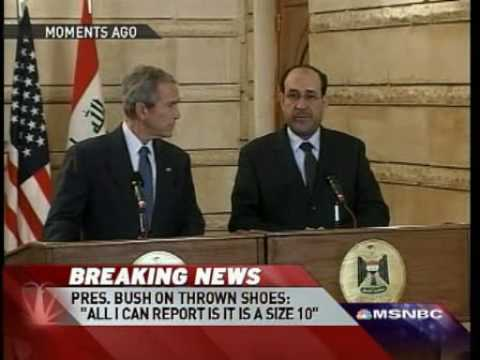 President Bush Attacked By Shoes