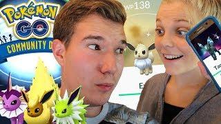 Shiny Evoli FANGEN & ENTWICKELN 😍 Pokémon Go Community Day