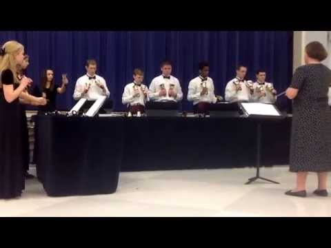 Hartford Christian Academy Handbells playing Pinnacle - 04/12/2014