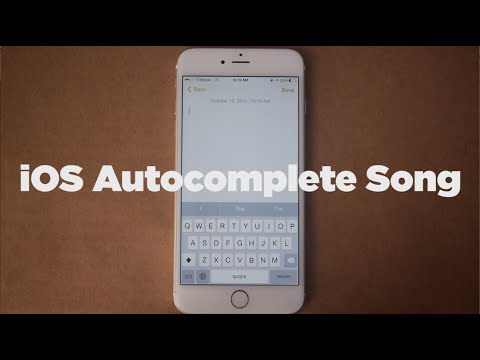 ♫ Ios Autocomplete Song | Song A Day #2110 video
