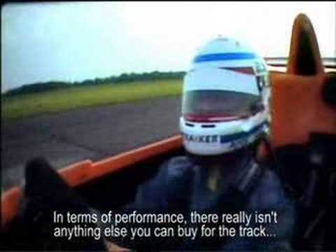 Jason Plato Caparo T1 crash test fire