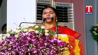 Dy Speaker Padma Devender Reddy Speech at Vaani Niketan Vidya Samithi Swarnostavalu  Telugu