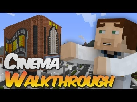 Full Working Cinema in Minecraft Walkthrough – Redpower, Computercraft & Tekkit Creation