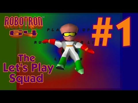 Double Fisting It -- Robotron 64 - Part 1 - Let's Play Squad video